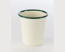 Homecook Enamelware Green and Cream Enamel Tumbler feature image